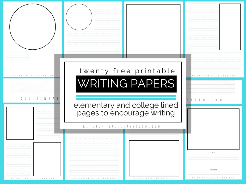 Printable Writing Paper For Kids- Twenty Versions Of Lined Paper To - Free Printable Lined Writing Paper