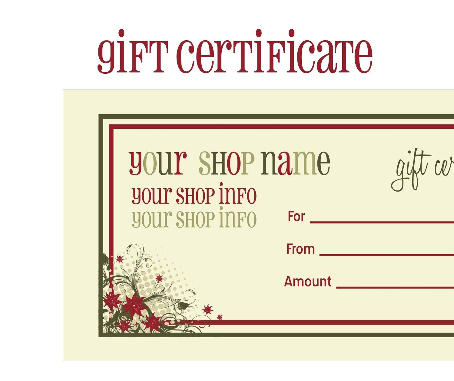 Printable+Christmas+Gift+Certificate+Template | Massage Certificate - Free Printable Gift Cards