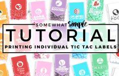 Free Printable Tic Tac Labels