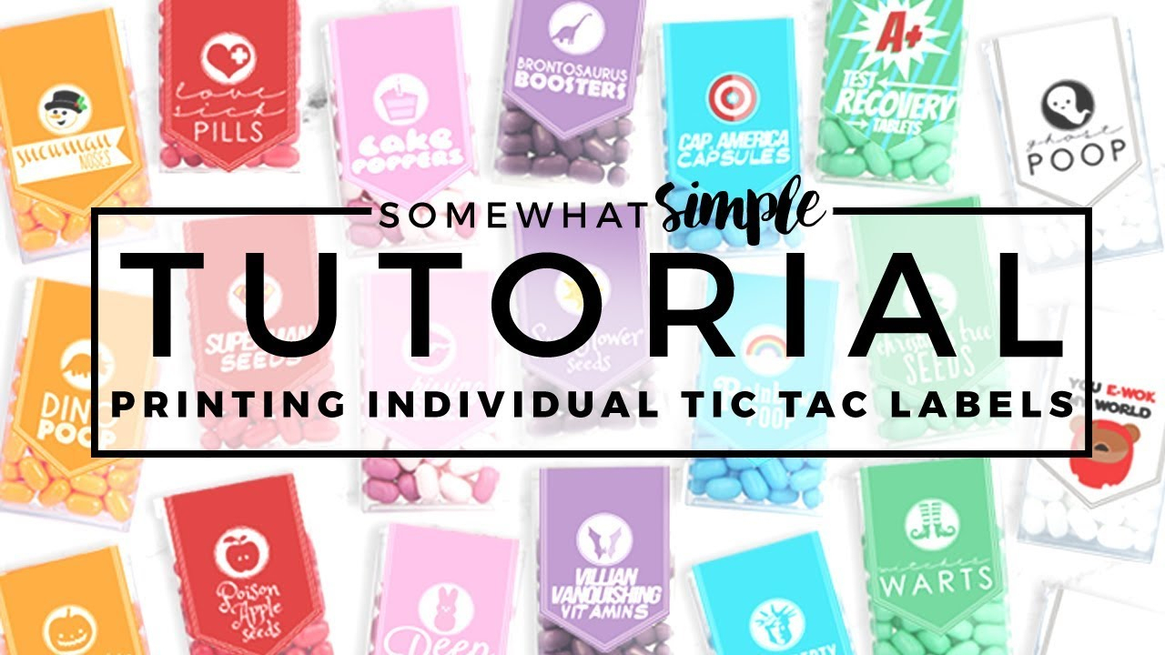 Printing Individual Tictac Labels On A Mac - Youtube - Free Printable Tic Tac Labels