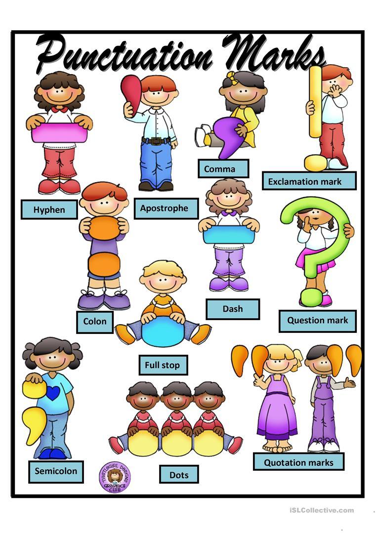 Punctuation Marks - Poster Worksheet - Free Esl Printable Worksheets - Punctuation Posters Printable Free