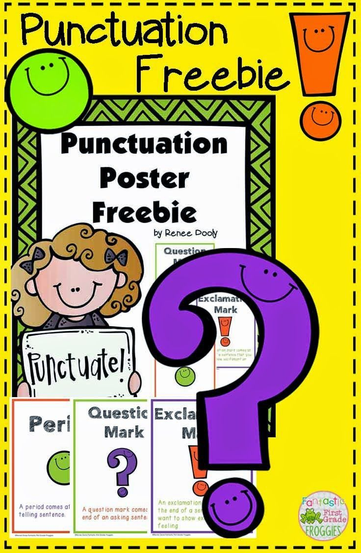Punctuation Poster Freebie, Which Includes A Period, Exclamation - Punctuation Posters Printable Free