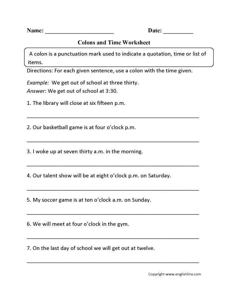 Free Printable Grammar Worksheets For Highschool Students