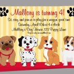 Puppy Dog Invitation Printable Or Printed With Free Shipping | Etsy   Dog Birthday Invitations Free Printable