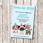 Puppy Dog Party Free Printable Invitations Edbd B C Ecc Luxury Puppy   Dog Birthday Invitations Free Printable