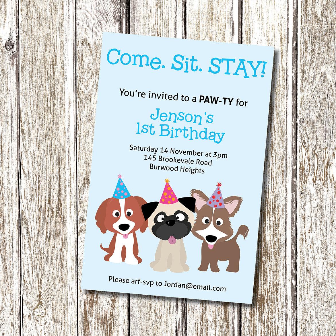 Puppy Dog Party Free Printable Invitations Edbd B C Ecc Luxury Puppy - Dog Birthday Invitations Free Printable