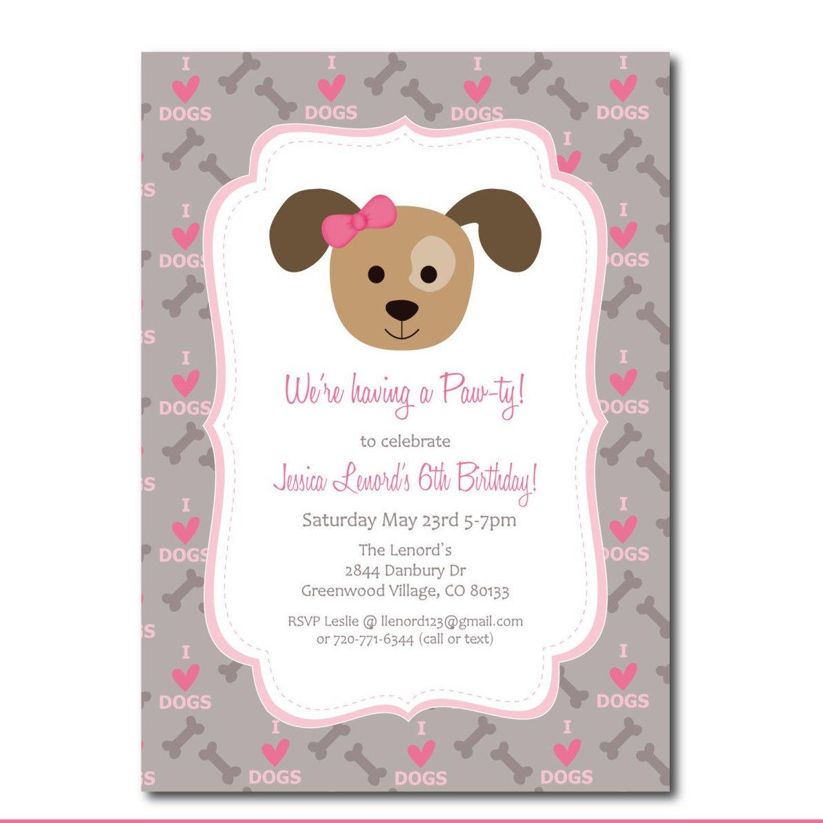 Puppy Shower Invitations Free Free Printable Puppy Shower Invitations - Free Printable Puppy Dog Birthday Invitations