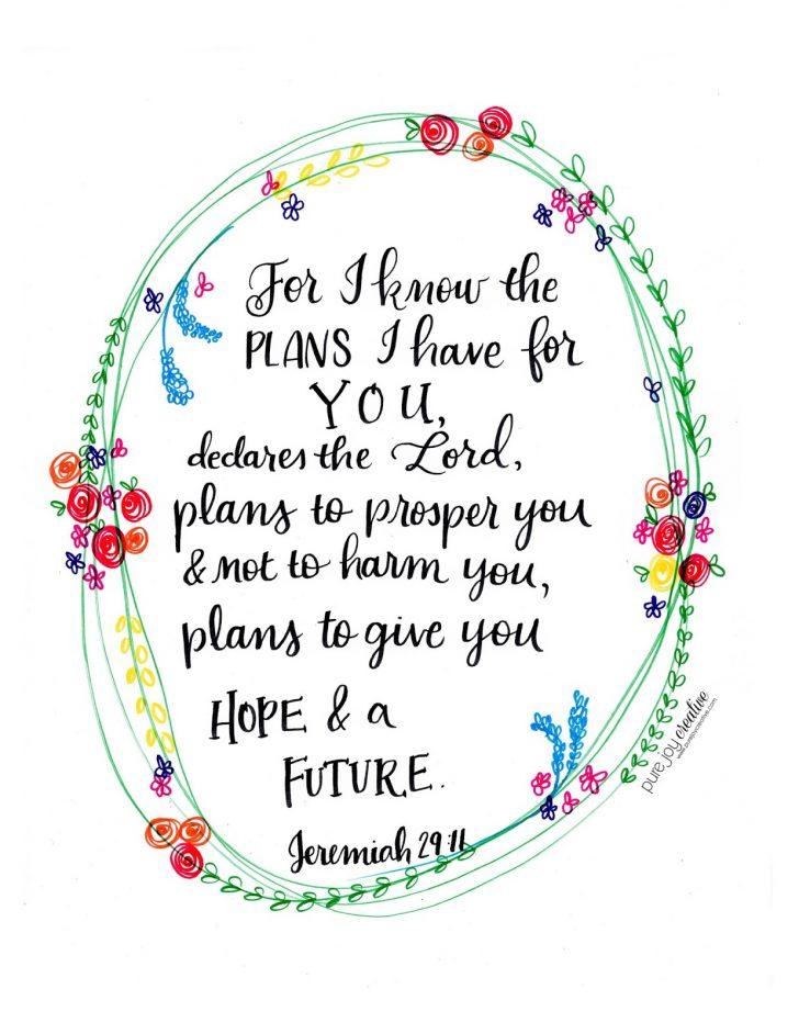 Jeremiah 29 11 Free Printable