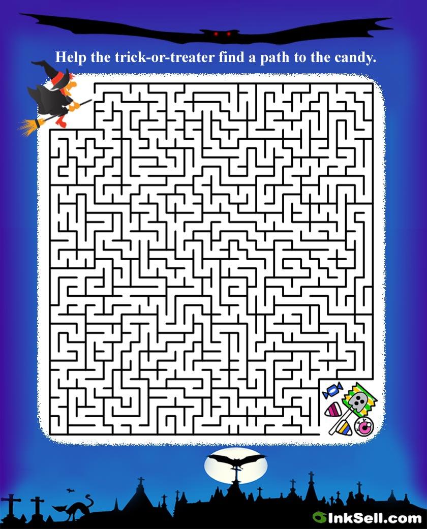 Puzzle Project - Halloween Crossword Printable Free