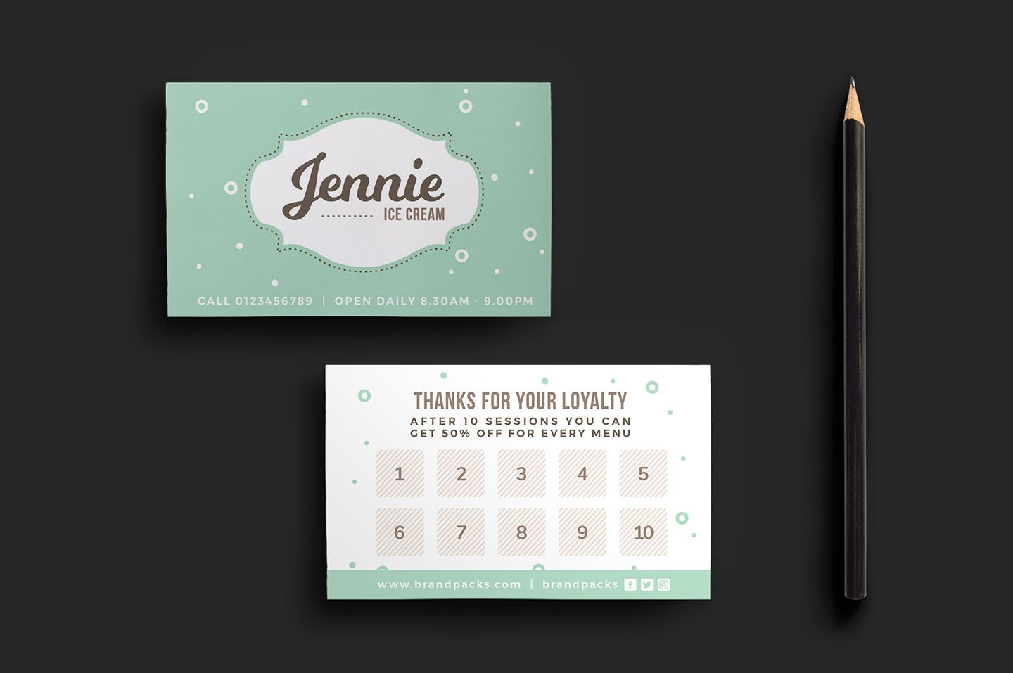 Quickly & Easily Create Professional Loyalty Card Designs With This - Free Printable Loyalty Card Template