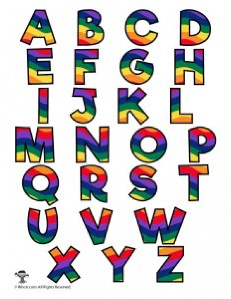 Rainbow Alphabet Printable Letters   Woo! Jr. Kids Activities With - Free Printable Rainbow Letters