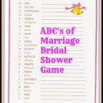 Raising Samuels Life: Free: Abc's Of Marriage Bridal Shower Game   Free Printable Bridal Shower Games Word Scramble
