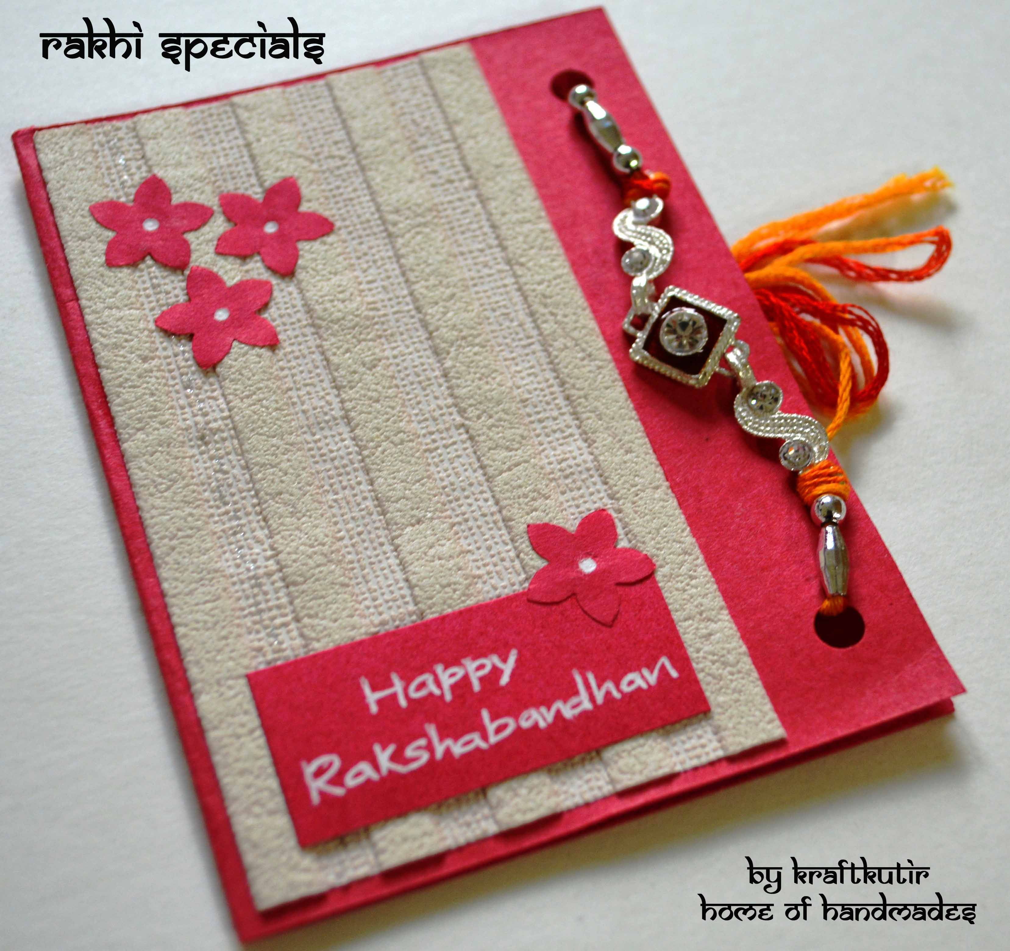 Rakshabandhan Cards With Rakhi :) | Kraftkutir's Handmade Products - Free Online Printable Rakhi Cards