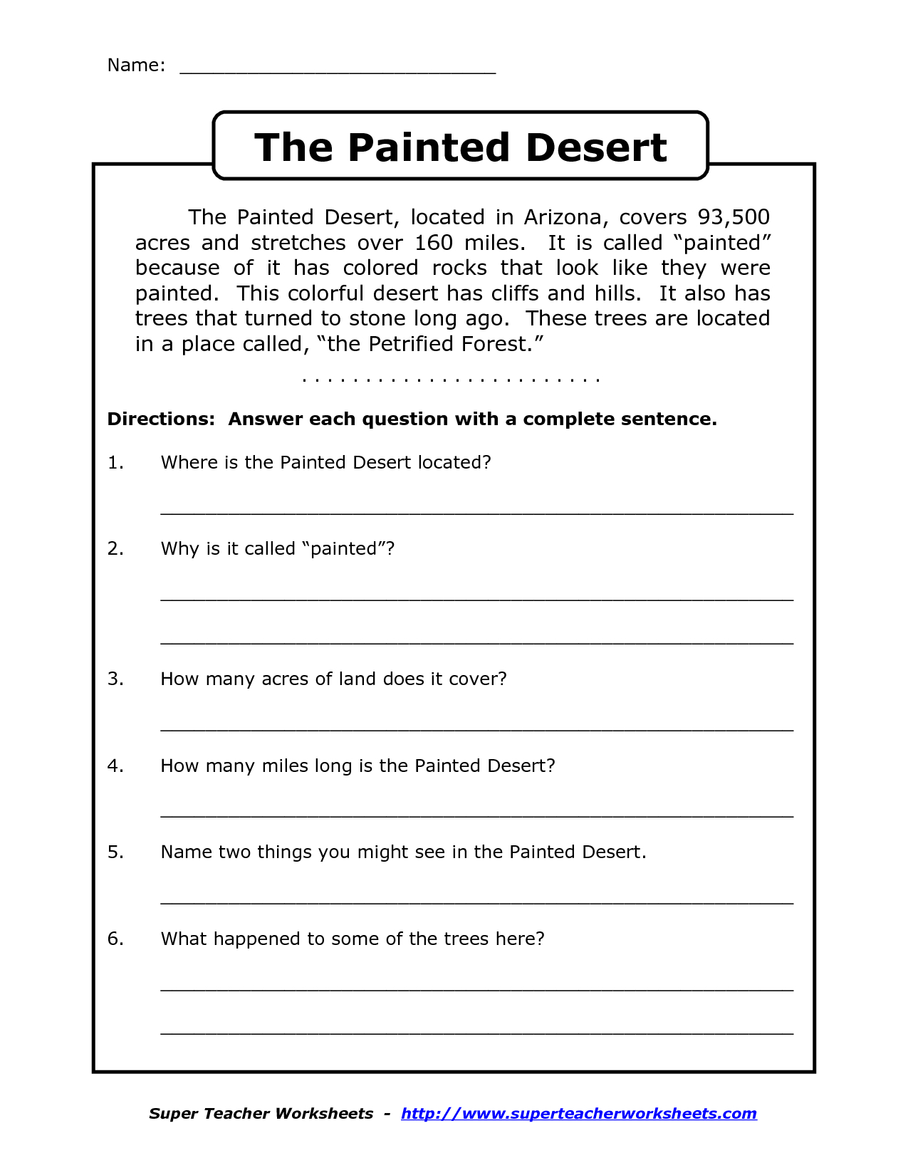 Reading Worksheets For 4Th Grade | Reading Comprehension Worksheets - Third Grade Reading Worksheets Free Printable