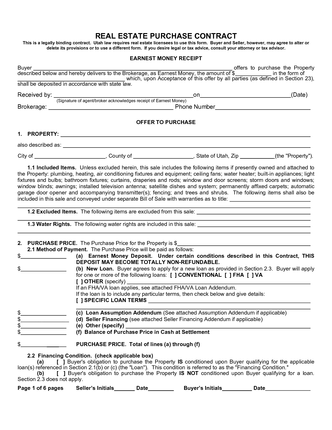 Real Estate Purchase Agreement Form Sample Image Gallery - Imggrid - Free Printable Real Estate Contracts