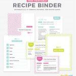 Recipe Binder Template   Ivysvariety   Free Printable Recipe Binder Templates