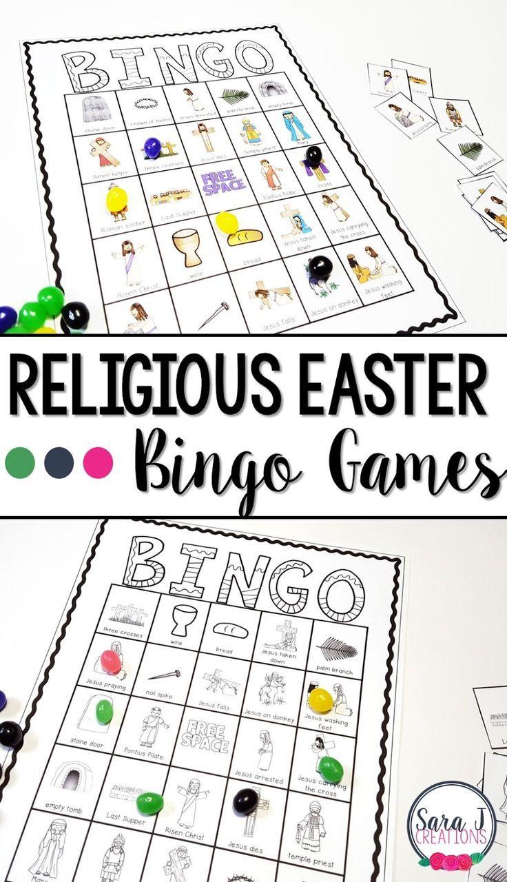 Religious Easter Bingo | Sunday School Ideas | Easter Religious - Free Printable Religious Easter Bingo Cards