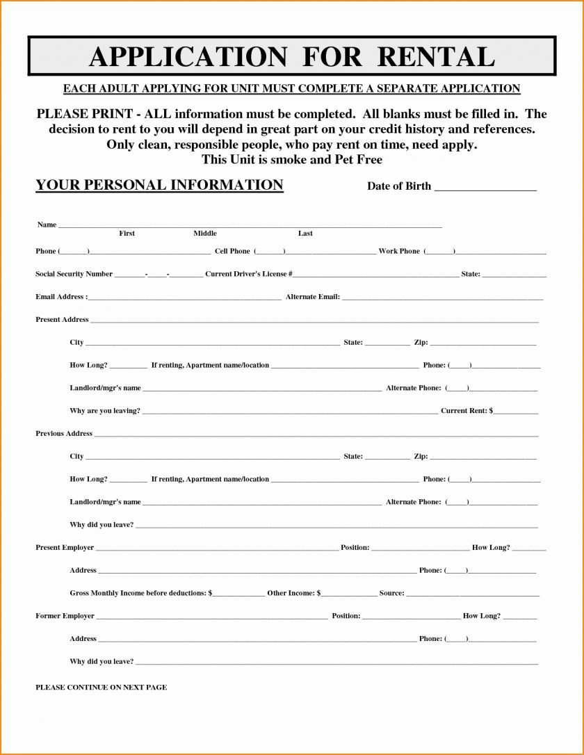 Rental Application Form Applying Luxury Free Printable Loan Of - Free Printable Rental Application
