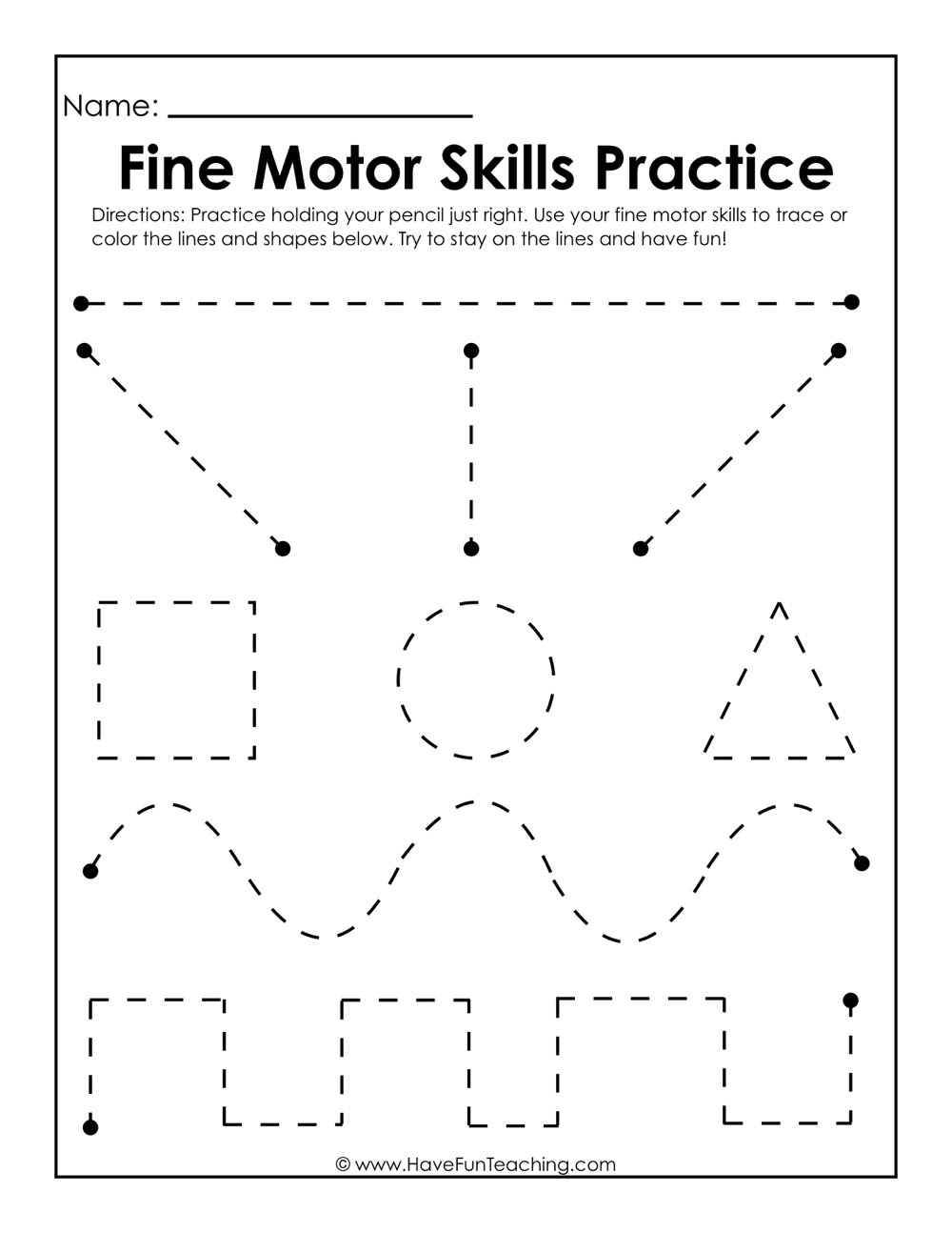 Resources | Writing | Handwriting | Worksheets - Free Printable Fine Motor Skills Worksheets