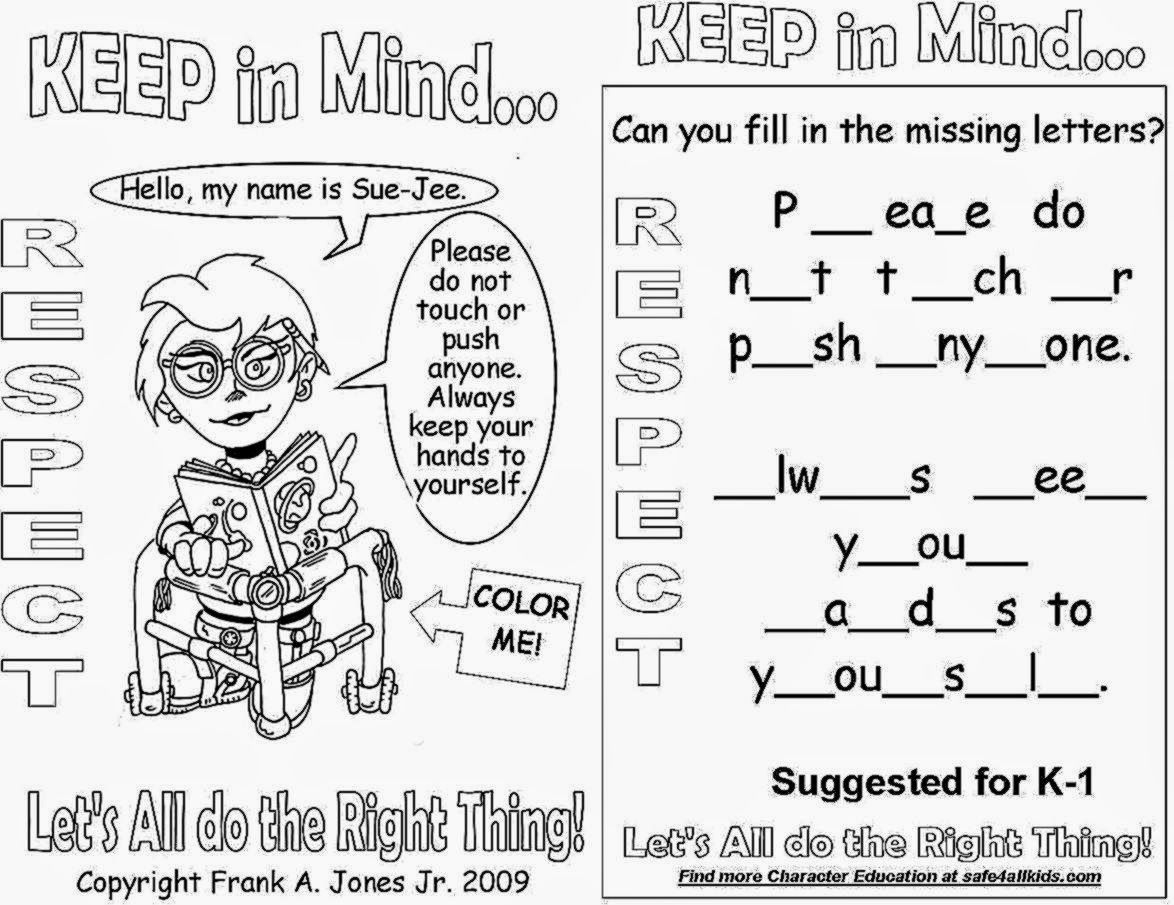Respect Coloring Pages Coloringpages Funkidts   School Ideas - Free Printable Coloring Pages On Respect