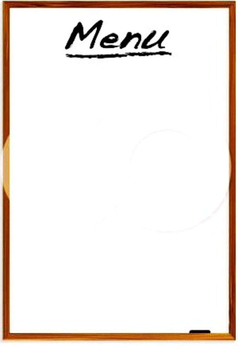 Restaurant Menu Template For Kids | World Of Printable And Chart - Free Printable Restaurant Menu Templates