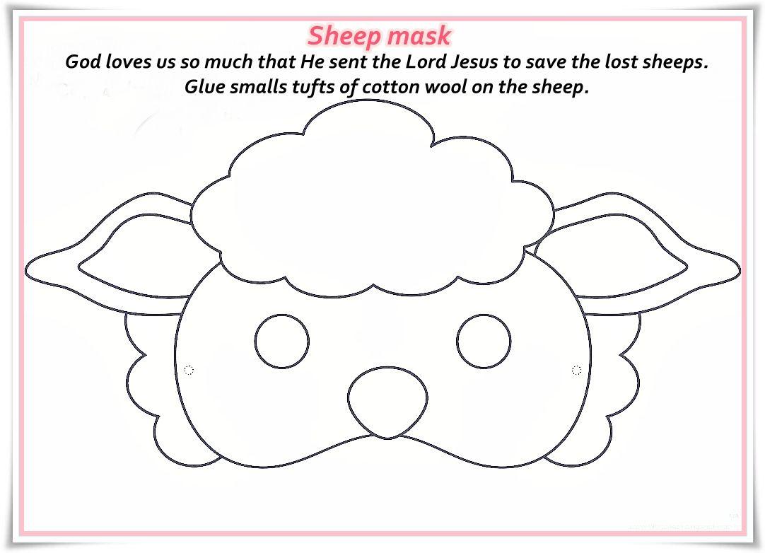 Resultado De Imagen De Free Printable Sheep Masks   Pre K - Free Printable Sheep Mask