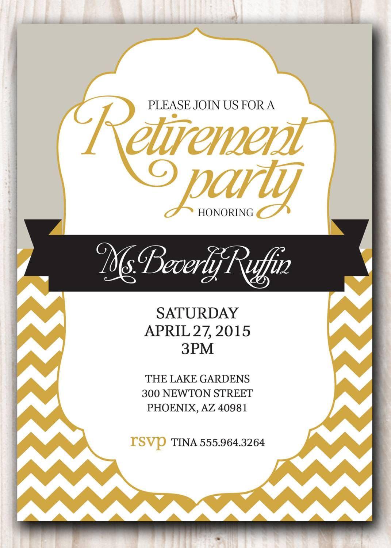 Retirement Party Invitation Template Microsoft   Retirment Party - Free Printable Retirement Party Flyers