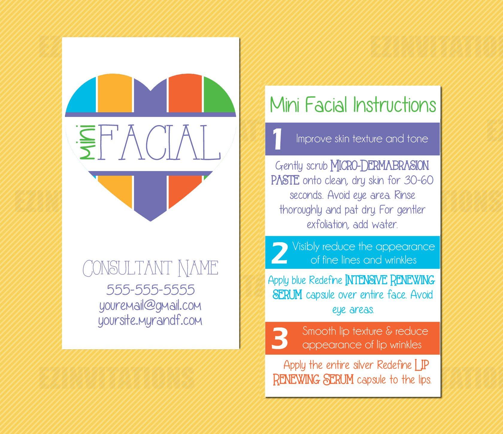 Rodan And Fields Mini Facial Card Rf Mini Facial Heart Instruction - Rodan And Fields Mini Facial Instructions Printable Free