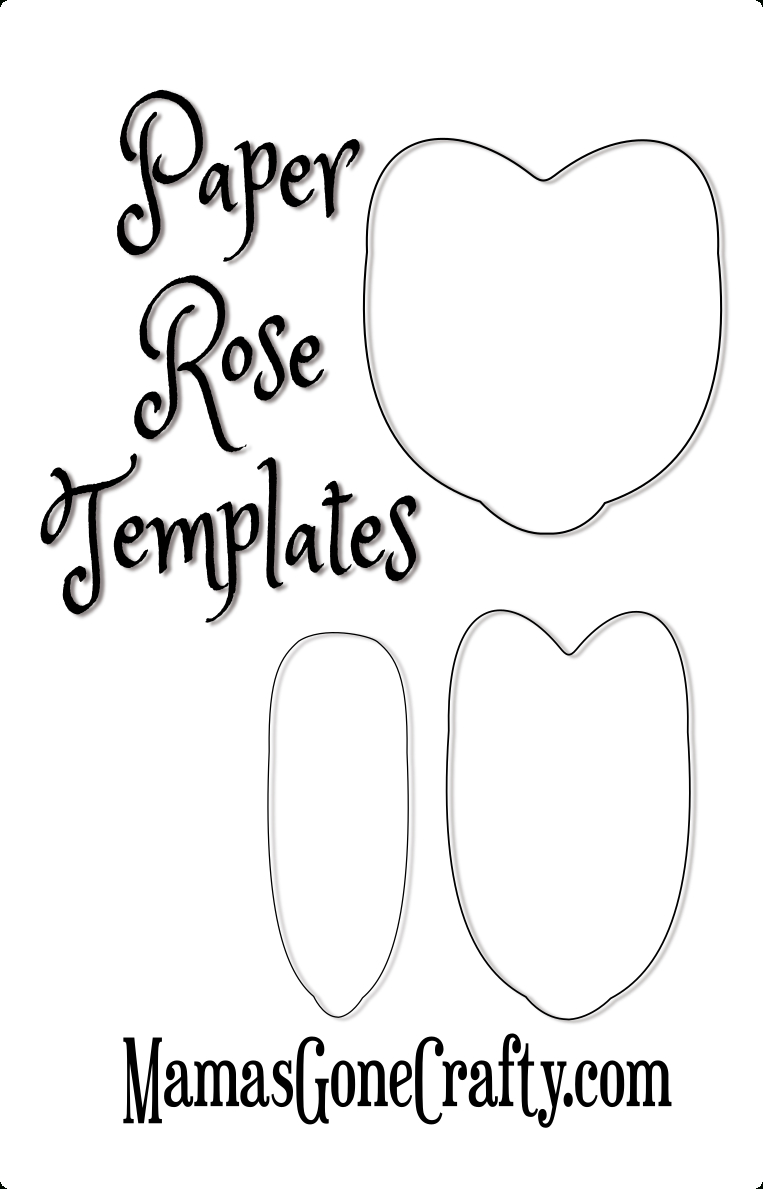 Rose Petal Printable Templates | Paper Crafts | Paper Flowers, Paper - Free Printable Paper Flower Templates