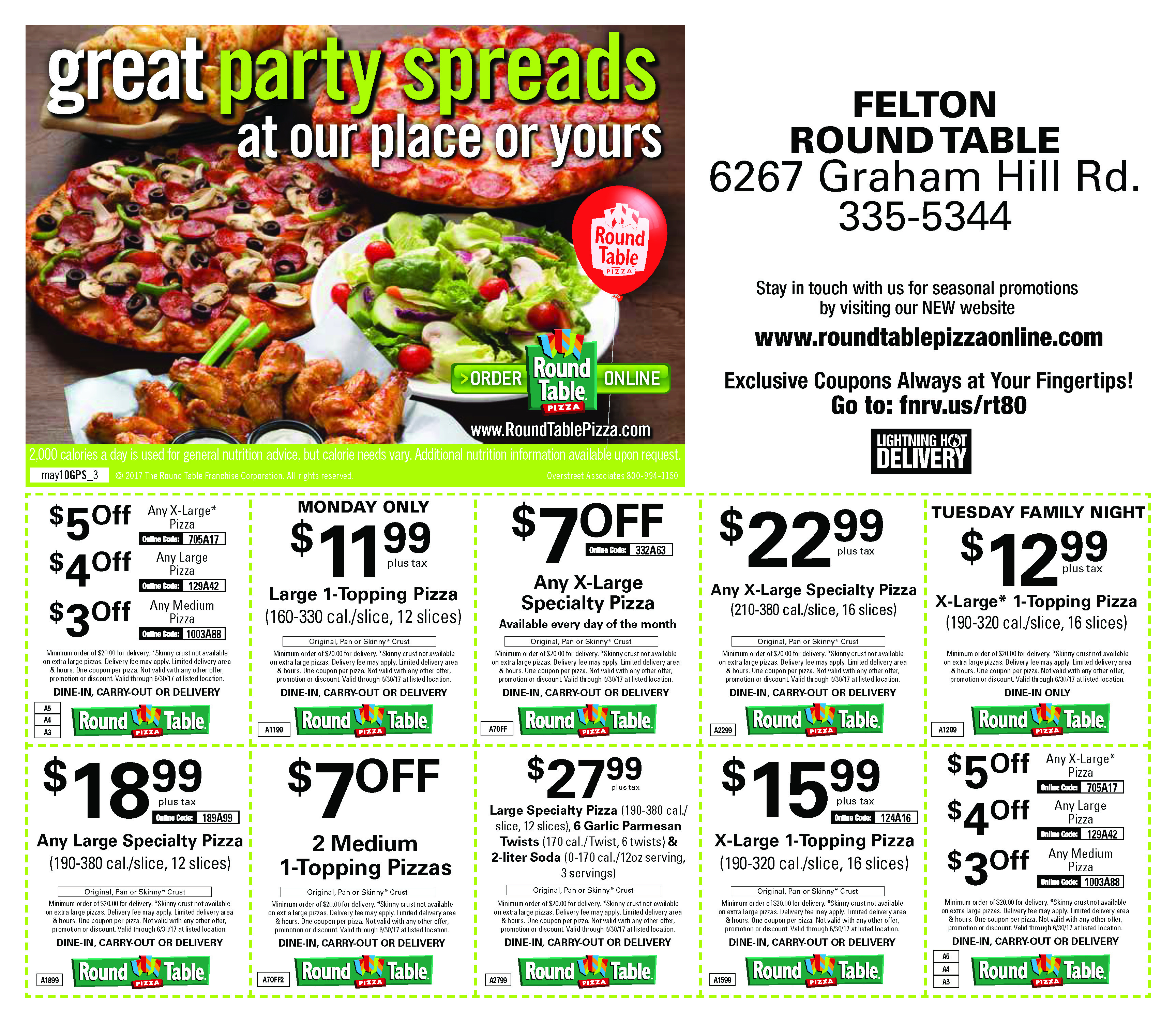Round Table Pizza Printable Coupons 2018 - Staples Coupon 73144 - Free Printable Round Table Pizza Coupons