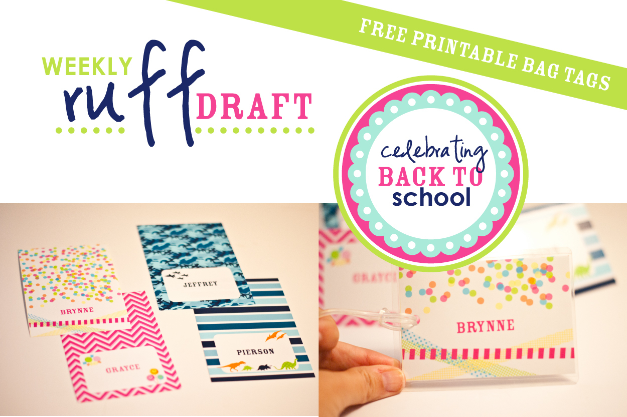 Ruff Draft: Free Printable School Bag Tags - Anders Ruff Custom - Free Printable Gift Bag Tags