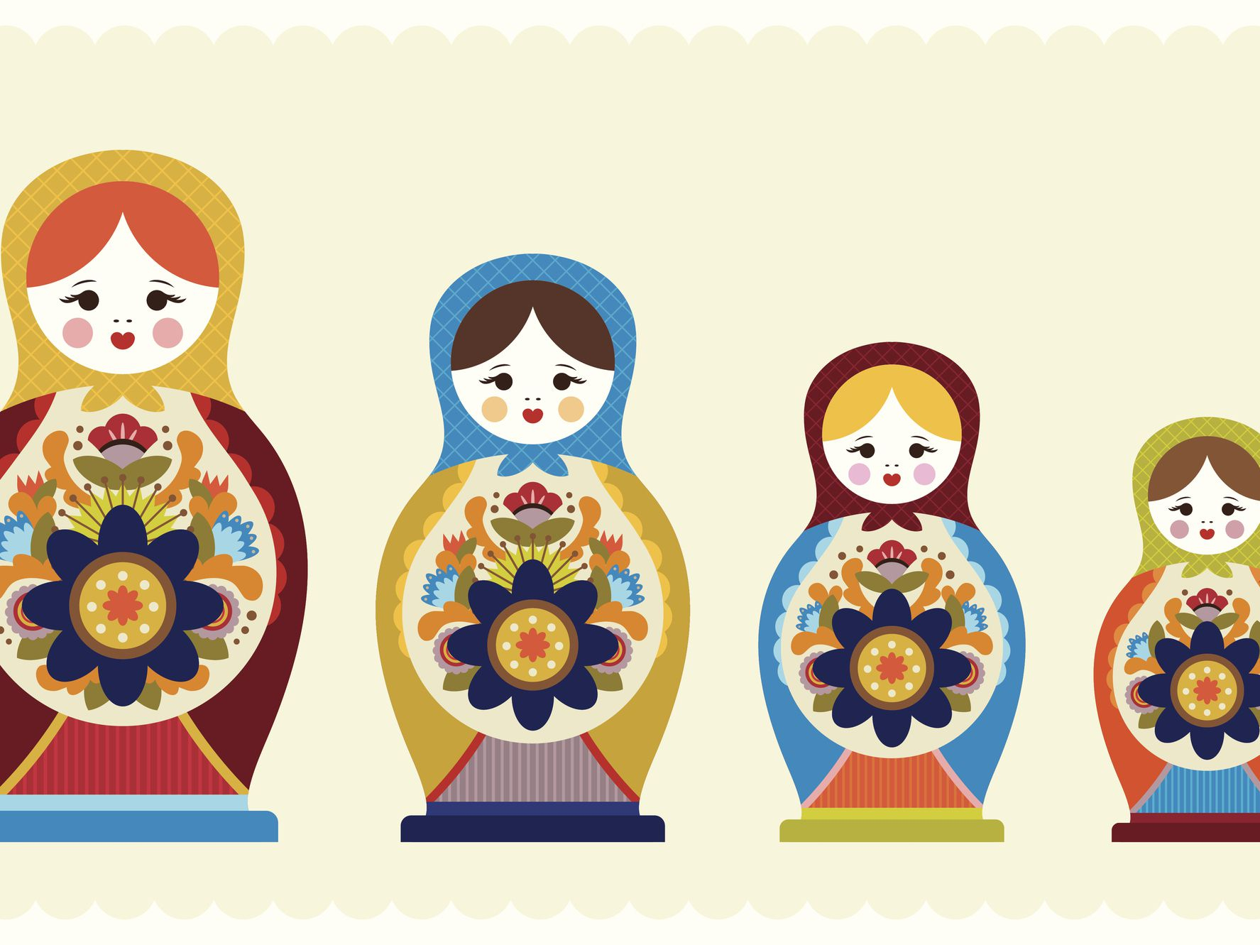 Russian Doll Template To Download And Print - Free Printable Paper Dolls From Around The World