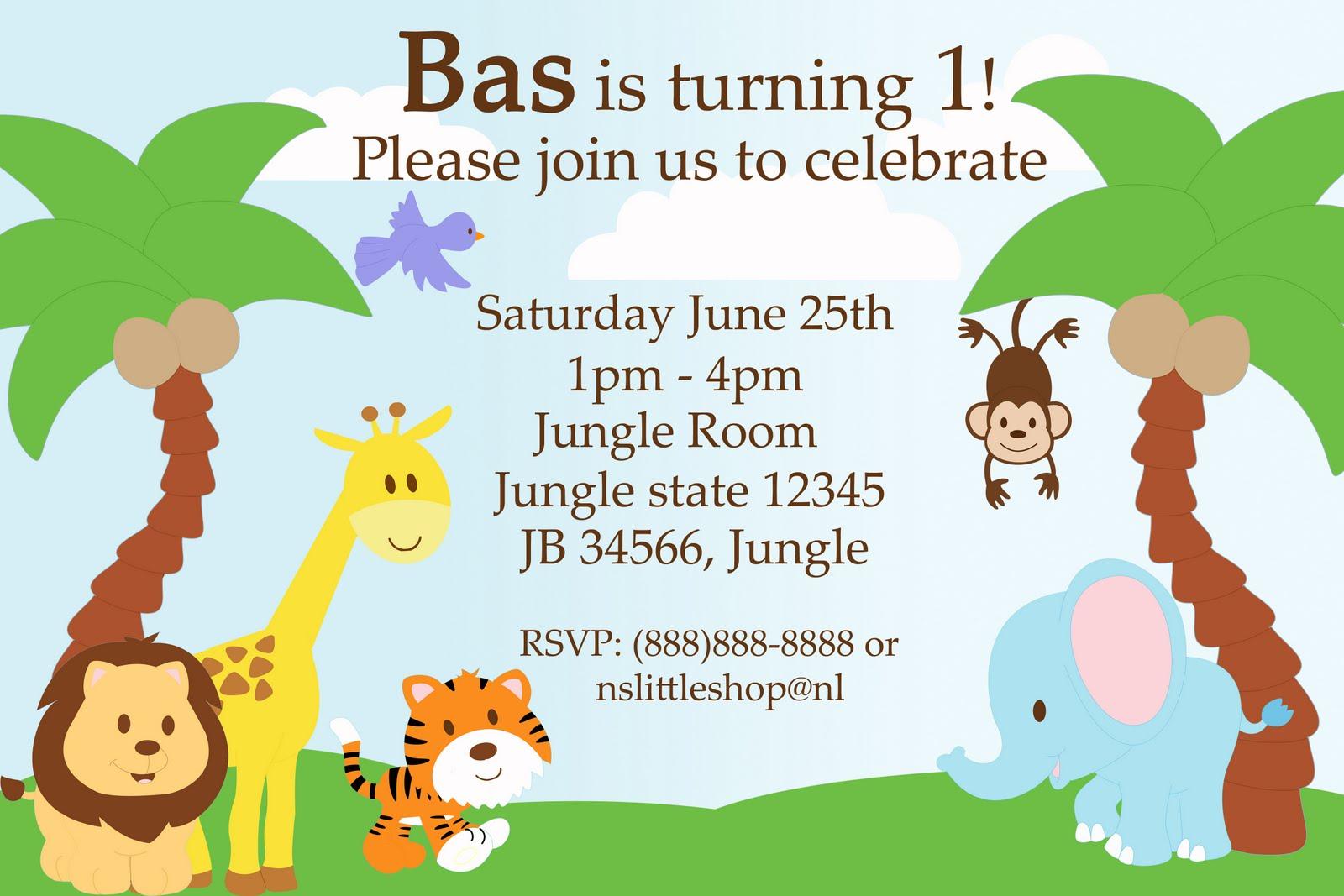 Safari Invitation Template Safari Templates On Free Jungle Themed - Jungle Theme Birthday Invitations Free Printable