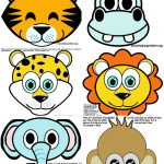 Safari / Jungle Themed First Birthday Party Part – Cheap Party – Animal Face Masks Printable Free