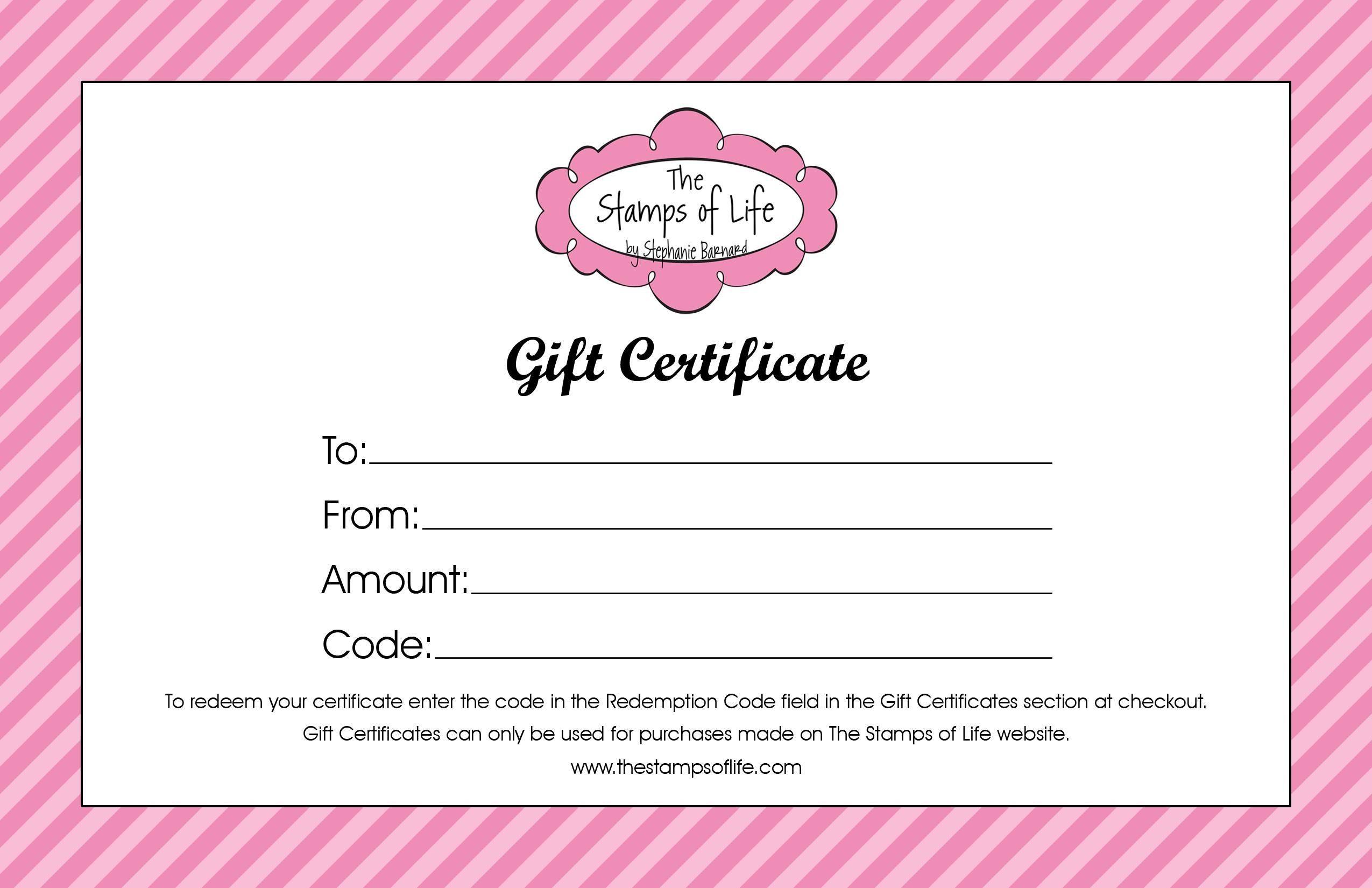 Salon Gift Certificate Template Free Printable Dealssiteco Simple - Free Printable Gift Certificates For Hair Salon