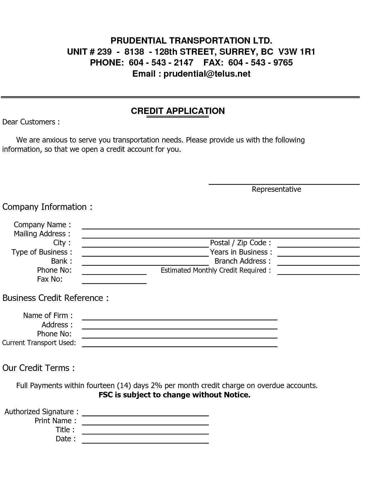 Sample Credit Reference Letter Template Images - Business Credit - Free Printable Business Credit Application Form
