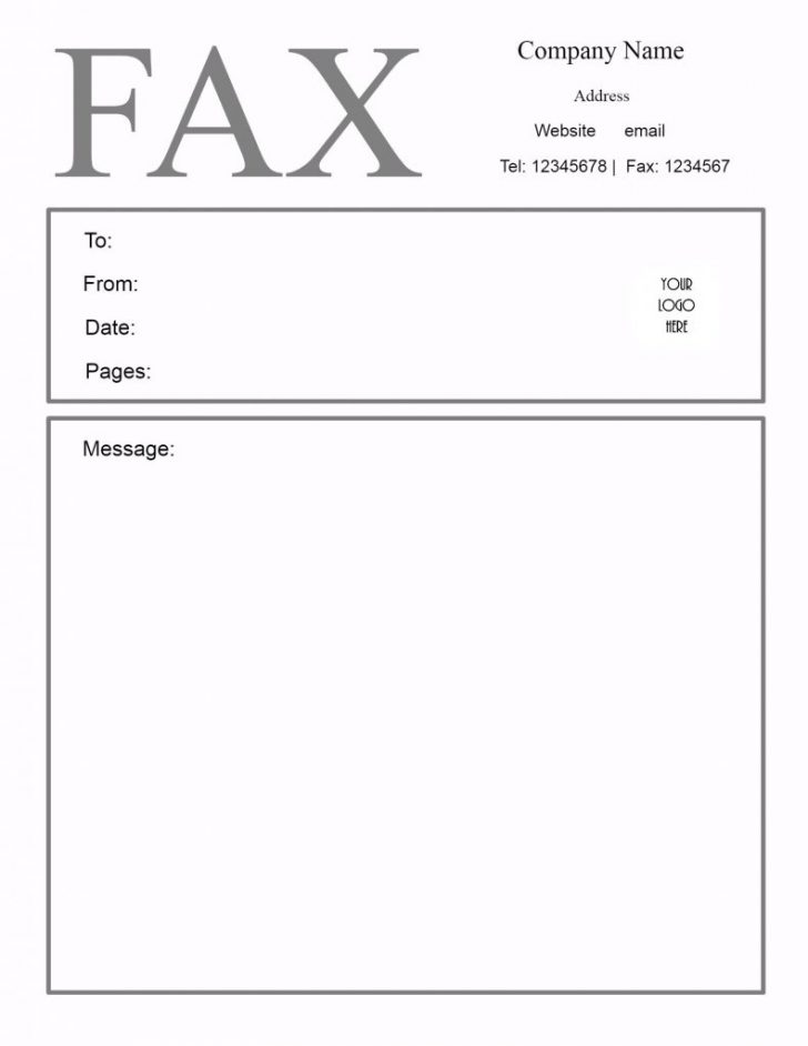 Free Printable Fax Cover Sheet Pdf