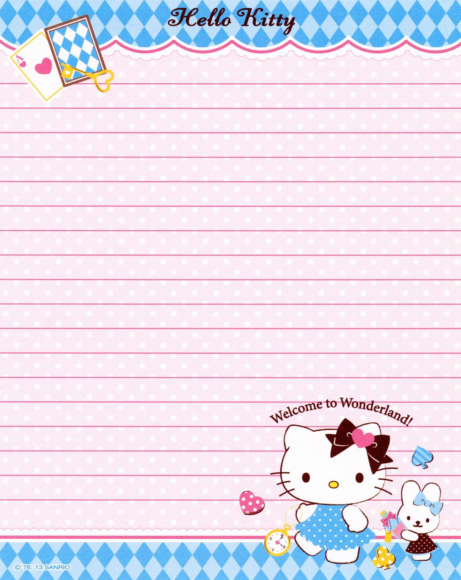 Sanrio - Hello Kitty - Memo Paper | Kitty & Sanrio | Pinterest - Free Printable Hello Kitty Stationery