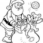 Santa Claus And Presents Printable Coloring Pages Christmas   Santa Coloring Pages Printable Free