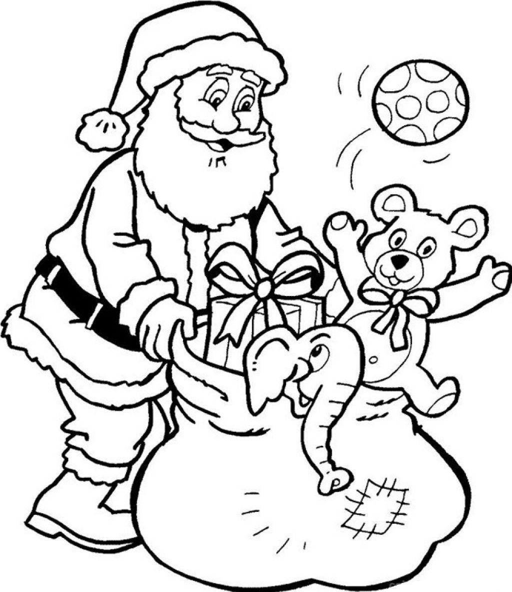 Santa Claus And Presents Printable Coloring Pages Christmas - Santa Coloring Pages Printable Free