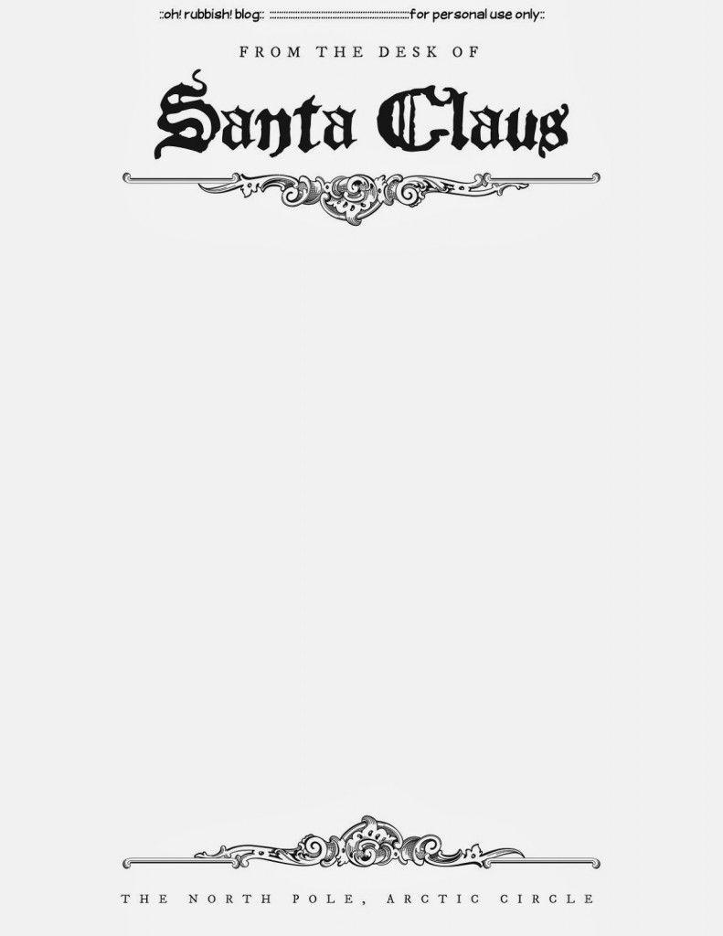 Santa Letter Templates | Templates (Printable) | Santa Letter, Santa - North Pole Stationary Printable Free