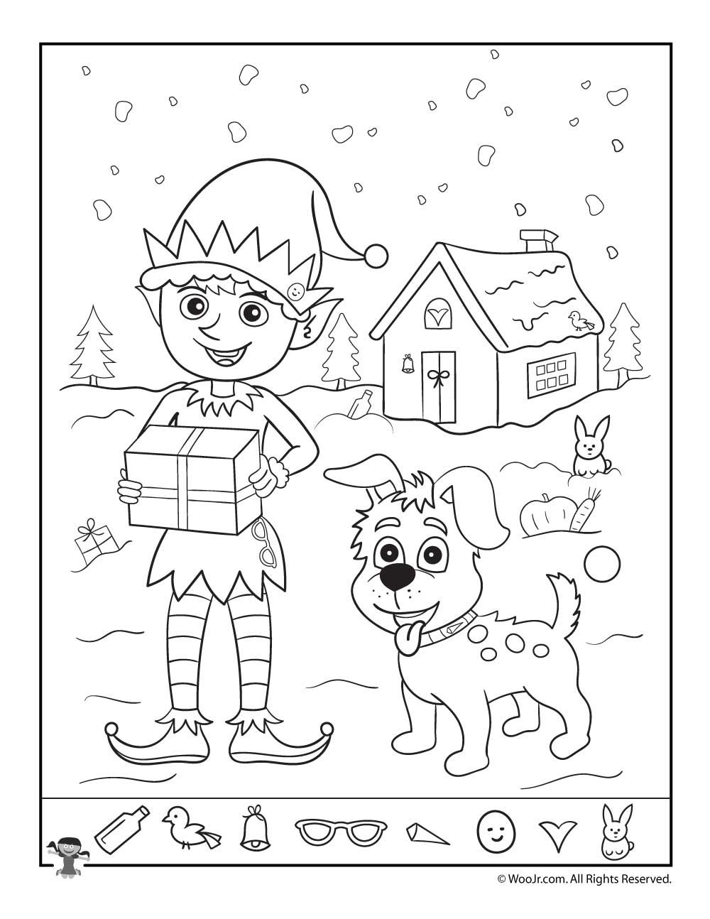 Santa's Helpers Christmas Hidden Picture Page | Hidden Pictures - Free Printable Christmas Hidden Picture Games