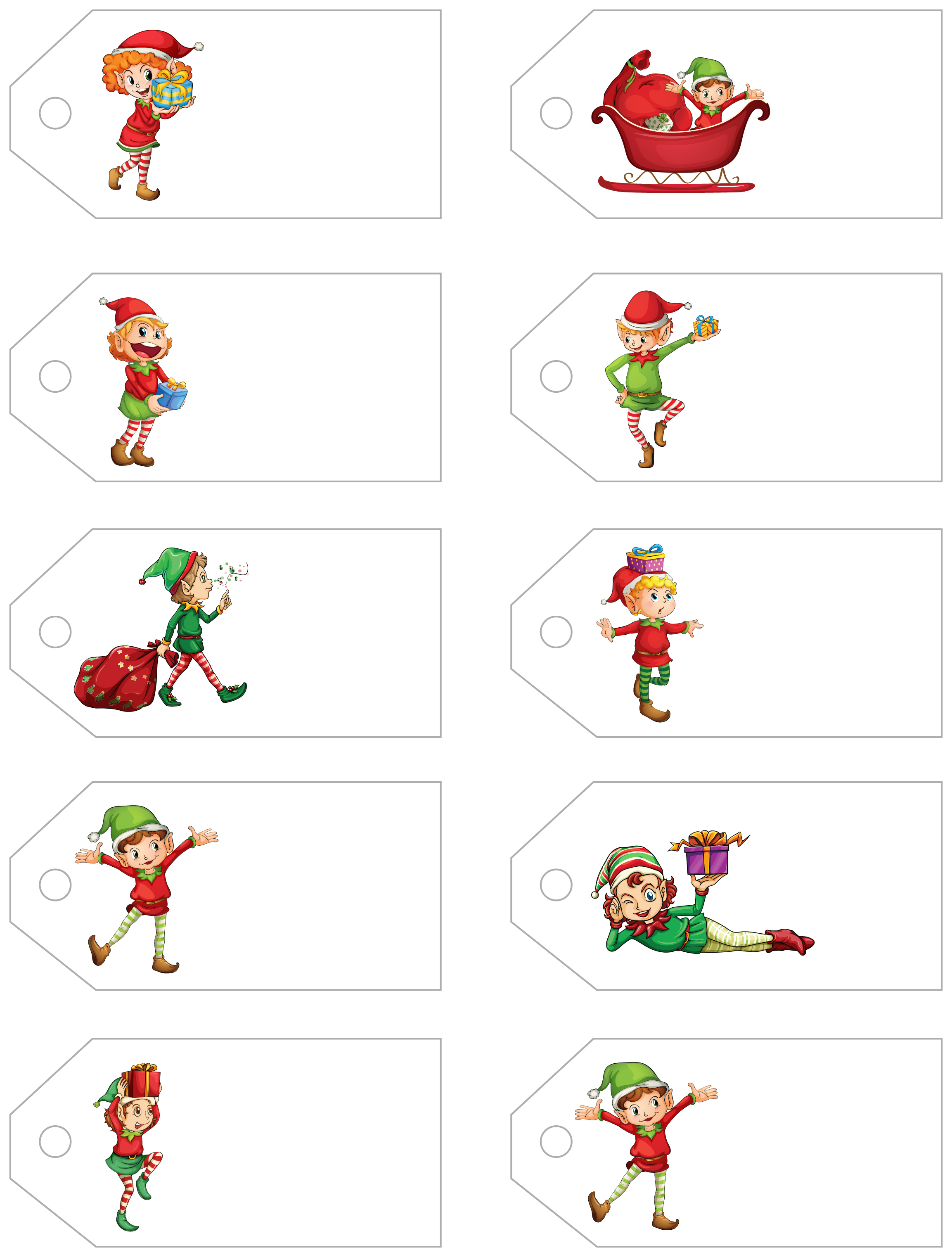 Santa's Little Gift To You! Free Printable Gift Tags And Labels - Free Printable Toe Tags