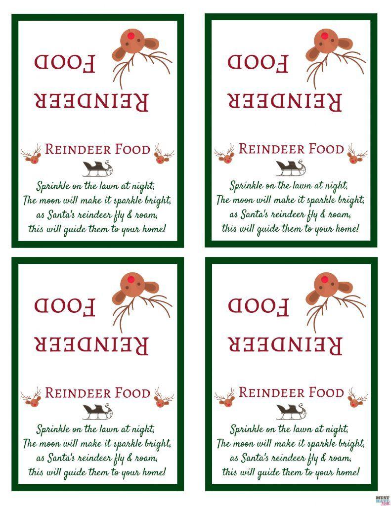 Santa's Magic Reindeer Food Recipe And Free Printable Reindeer Food - Reindeer Food Poem Free Printable