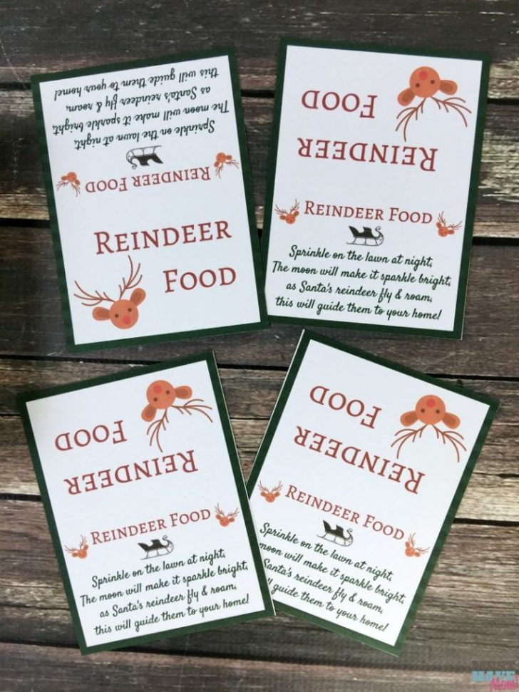 Reindeer Food Poem Free Printable