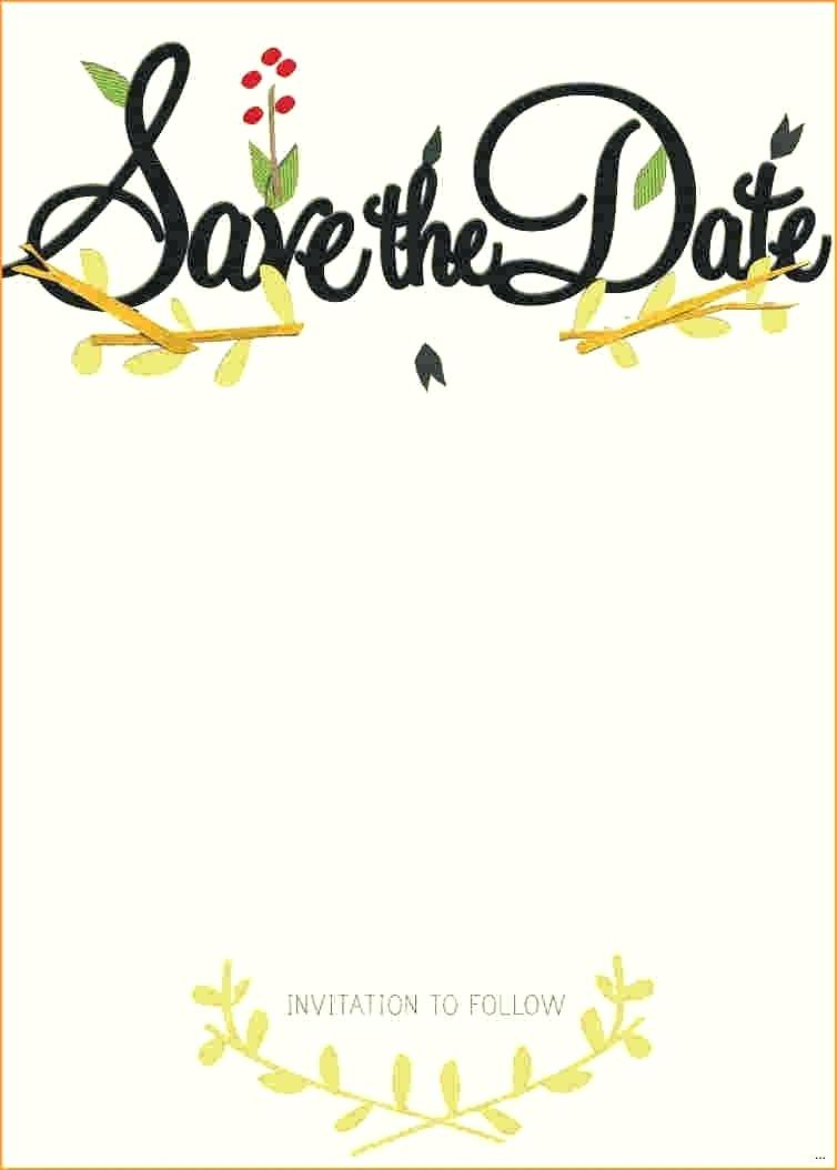 Save The Date Invitation Template Save The Date Card Template - Free Printable Save The Date Invitation Templates