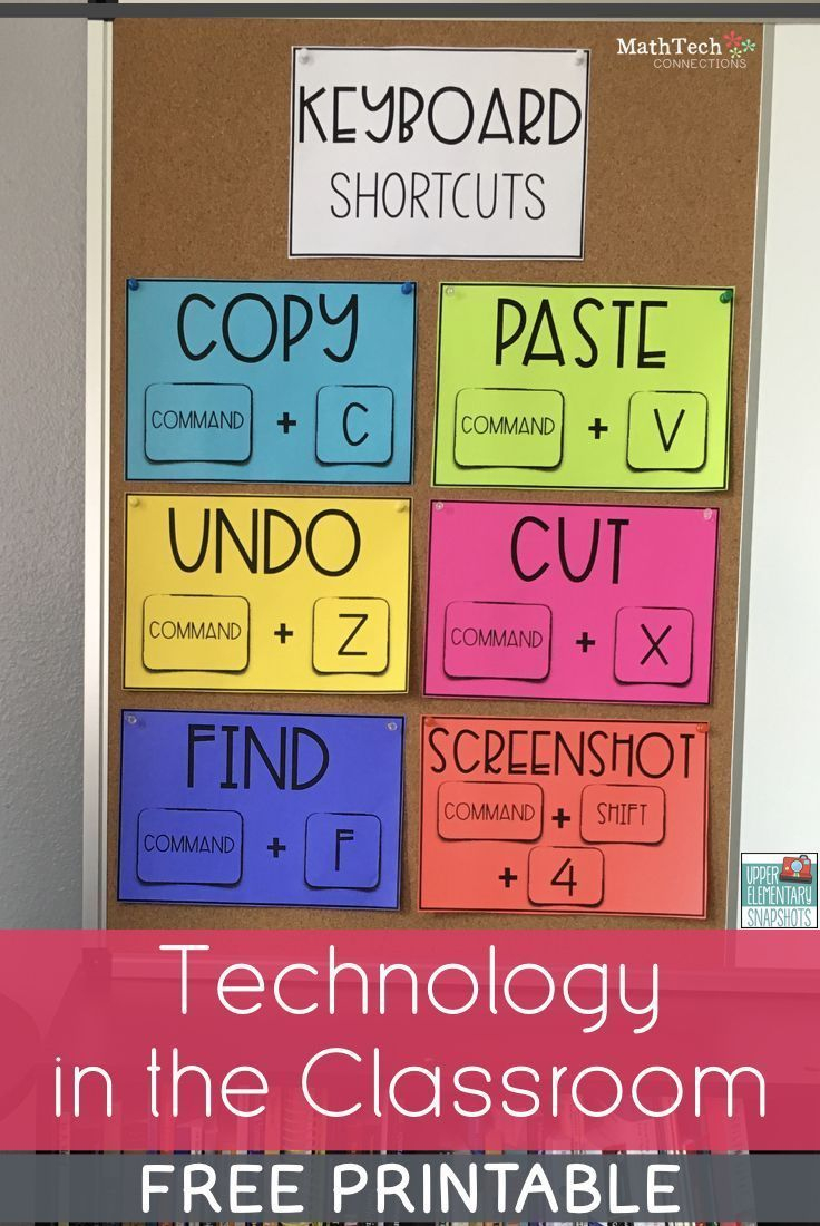 Save Time - Review Basic Computer Skills   Technology Teaching Ideas - Free Printable Computer Lab Posters