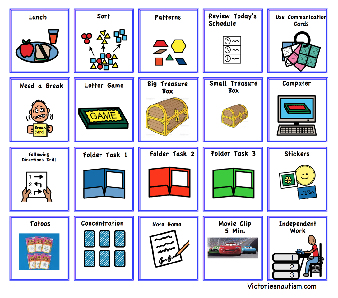 Schedule, Activity And Task Cards - Free Printable Kindergarten Task Cards