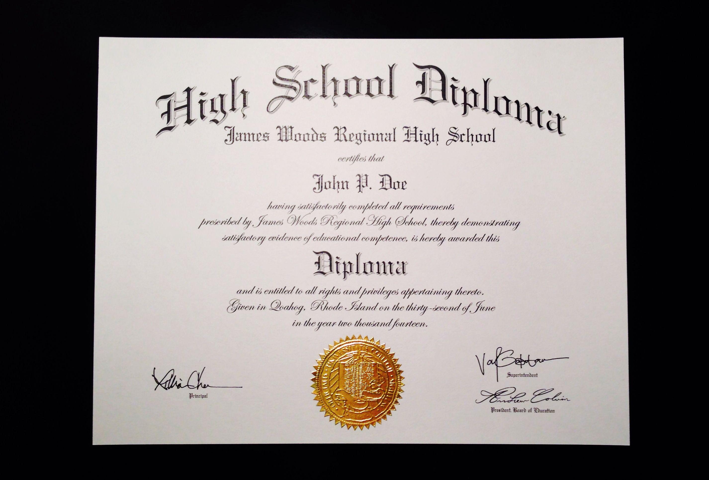 School Certificate Template Free Printable Certificates   Diploma - Free Printable Ged Certificate