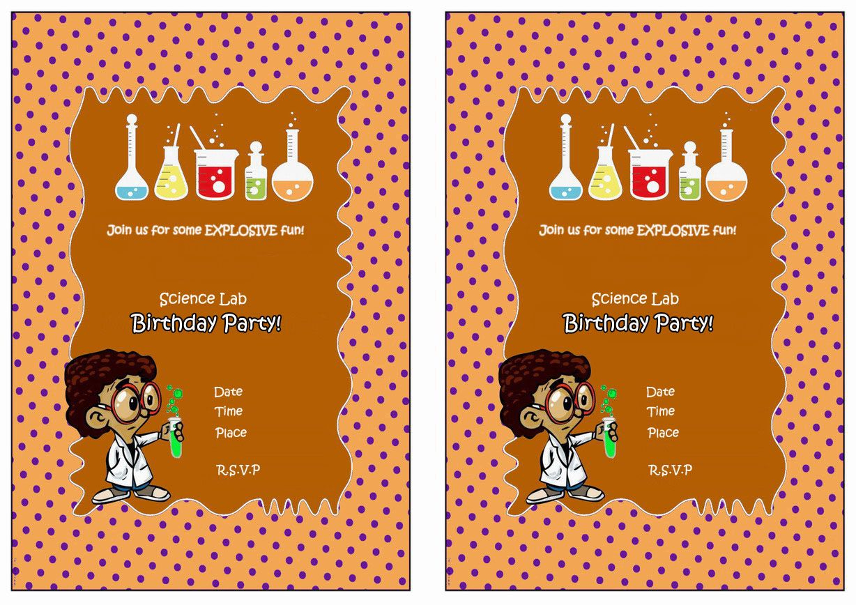 Science Free Printable Birthday Party Invitations | Birthday Party - Free Printable Science Birthday Party Invitations